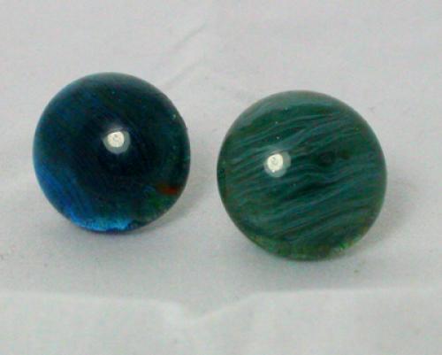 Earrings Blue Green Aggets