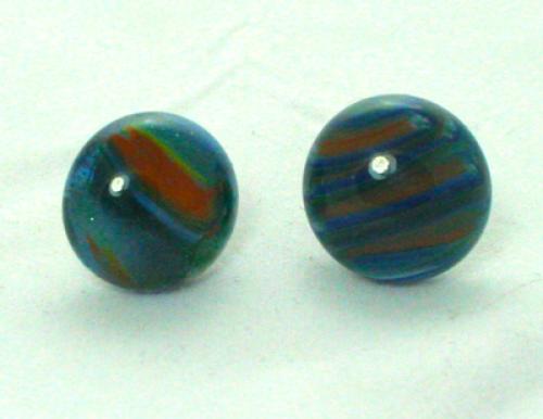 Earrings Blue Aggets