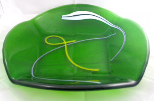Green Swirl Fold Bowl 2